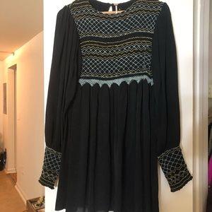 ☀️Dress Sale☀️  Black Blue Embroidery Dress